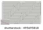large vector horizontal maze... | Shutterstock .eps vector #495695818