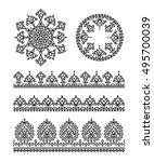 set of vector indian floral... | Shutterstock .eps vector #495700039
