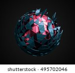 abstract 3d rendering of low... | Shutterstock . vector #495702046