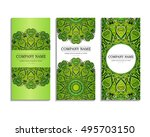 set of business cards. template ... | Shutterstock .eps vector #495703150