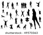silhouette of people | Shutterstock . vector #49570363