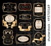 golden labels set   isolated on ... | Shutterstock .eps vector #495705169