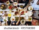 food catering cuisine culinary... | Shutterstock . vector #495708580