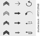 arrow icon set  vector design
