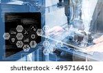 industry4.0 concept .business... | Shutterstock . vector #495716410