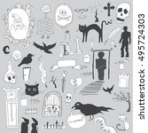 scary symbols | Shutterstock .eps vector #495724303