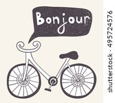 Cartoon Bicycle With