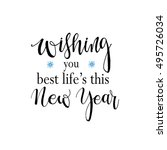 wishing you best life's this... | Shutterstock .eps vector #495726034