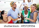 group of people party concept   Shutterstock . vector #495729556