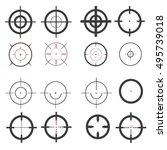 set  target icons  sniper scope....   Shutterstock .eps vector #495739018