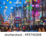 london  uk   december 30  2015  ... | Shutterstock . vector #495740308