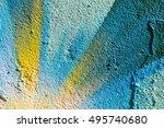 Closeup Abstract Painted Wall...
