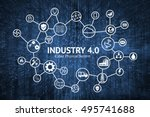 industrial 4.0 cyber physical... | Shutterstock . vector #495741688