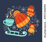vector concept with symbols of... | Shutterstock .eps vector #495744094
