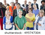 diverse group of people various ... | Shutterstock . vector #495747304