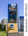 Small photo of Indianapolis - Circa October 2016: National Collegiate Athletic Association Headquarters. The NCAA regulates athletic programs of many colleges and universities I