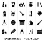 black make up and cosmetics... | Shutterstock .eps vector #495752824