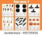 counting educational children... | Shutterstock .eps vector #495755920