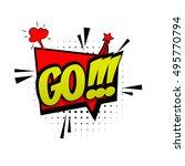 comic text go sound effects pop ... | Shutterstock .eps vector #495770794