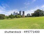 sydney city  botanical garden... | Shutterstock . vector #495771400