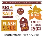 flash sale banner set. shop now ... | Shutterstock .eps vector #495777640