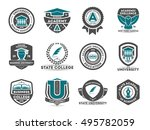 university and college logo ... | Shutterstock .eps vector #495782059
