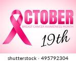 breast cancer october awareness ... | Shutterstock .eps vector #495792304