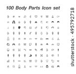 100 body parts icon set | Shutterstock .eps vector #495792718