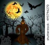 vector very detailed  dark ... | Shutterstock .eps vector #495796270