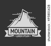 mountain exploration vintage... | Shutterstock .eps vector #495801628