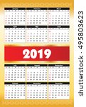 calender 2019 in vector can be... | Shutterstock .eps vector #495803623