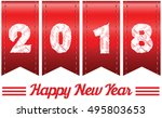 2018 annual year vector. happy... | Shutterstock .eps vector #495803653