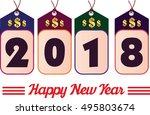 happy new year. 2018 year... | Shutterstock .eps vector #495803674