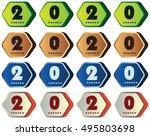 2020 annual year vector. happy... | Shutterstock .eps vector #495803698