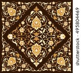 floral ornament in eastern style | Shutterstock .eps vector #495804469