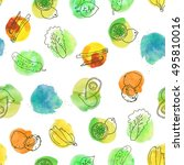 vector colorful hand drawn... | Shutterstock .eps vector #495810016