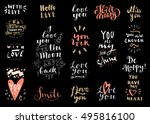 vector set of love hand drawn... | Shutterstock .eps vector #495816100