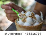 Coconut Ice Cream At Floating...