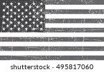 grunge american flag.vector... | Shutterstock .eps vector #495817060