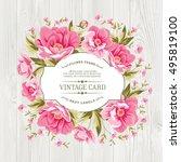 vintage card design with... | Shutterstock .eps vector #495819100