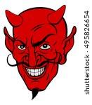 red devil satan or lucifer... | Shutterstock .eps vector #495826654