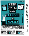 keep calm and believe in magic  ... | Shutterstock .eps vector #495826948