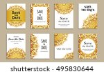 save the date. set of cards...   Shutterstock .eps vector #495830644
