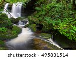 waterfall in rainforest at phu... | Shutterstock . vector #495831514