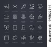 vector line icons of fabric... | Shutterstock .eps vector #495831544