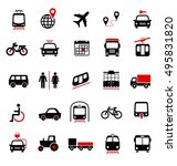 set of transportation icons on... | Shutterstock .eps vector #495831820