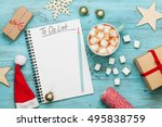 cup of hot cocoa or chocolate... | Shutterstock . vector #495838759
