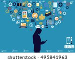 technology business... | Shutterstock .eps vector #495841963