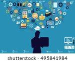 technology business... | Shutterstock .eps vector #495841984