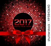 vector 2017 background with red ... | Shutterstock .eps vector #495843640
